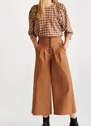 Летние брюки кюлоти mango  xs