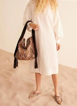 Модная сумка в стиле бохо mango