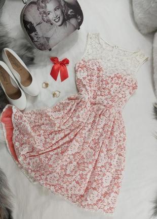 Шикарное кружевное платье нарядное вечернее