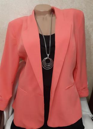 Шикарный розовый жакет, пиджак atmosphere, p.42