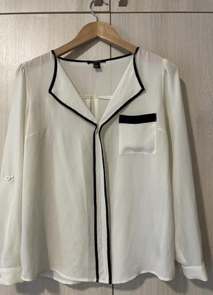 Женская белая блуза, молочная блузка, кофта