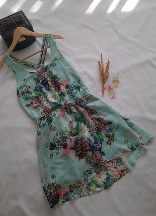 Коротка літня шифонова сукня плаття/короткое летние шыфоновое платье