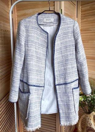 Пиджак длинный жакет блейзер зара