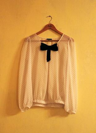 Прозрачная блузка в горошек в подарок