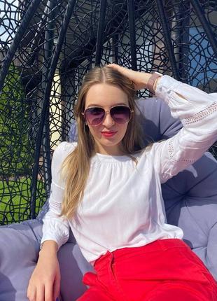 Солнцезащитные очки авиаторы унисекс2 фото