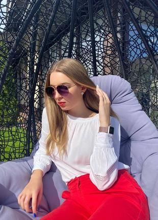 Солнцезащитные очки авиаторы унисекс1 фото