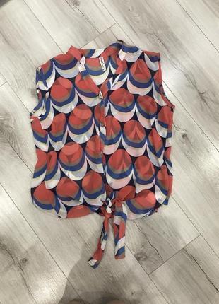 Блузка на завязках
