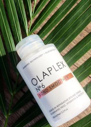 Концентрированный восстанавливающий крем для укладки волос olaplex №6 bond smoother