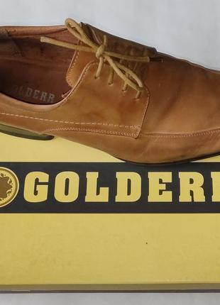 Кожаные фирменные туфли golderr, кожа, шкіряні туфлі