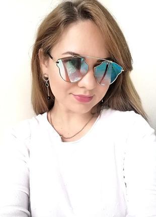 Эксклюзивные солнцезащитные очки зеркальные