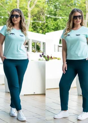 Костюм футболка плюс брюки размер батал