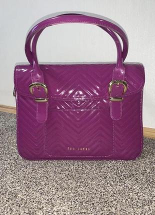 Классная яркая сумка ted baker цвет фуксия ❤️