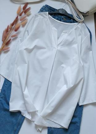 Натуральная рубашка свободного кроя, оверсайз