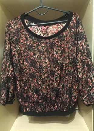 Bershka красивая укороченная блуза пофта