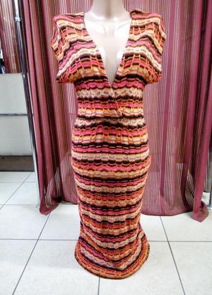 Платье тонкая вязка размер xs