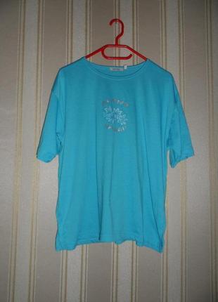 Женская футболка размер 44// xxl  полиэстер/ хлопок