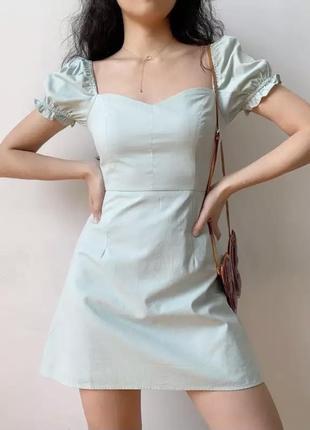 Летнее платье длины мини