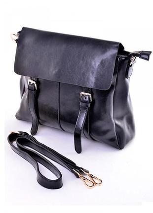 Деловой кожаный портфель-сумка женский,стильный,классический