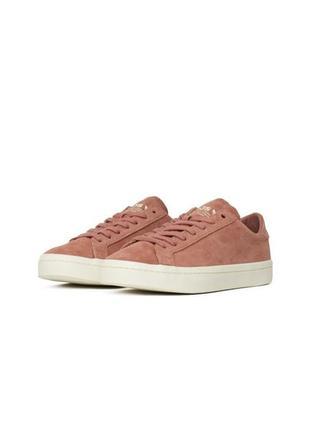 Розовые замшевые кеды adidas
