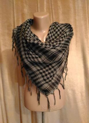Арафатка платок шарф чёрно-серая