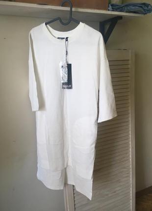 Новое приятное платье кокон 8-10-12 хлопок с карманами