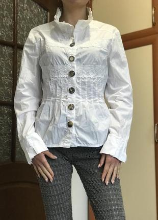 Итальянская белоснежная блуза