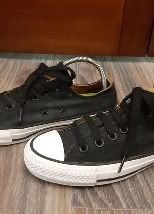 Оригинал. унисекс кеды converse all star black с белой подошвой, размер 38, стелька - 24,5см ж.