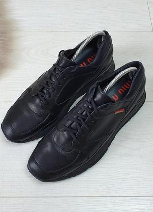 Оригінальні шкіряні  туфлі miu miu