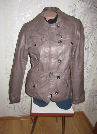 Кожзам куртка на синтепоне 46 м