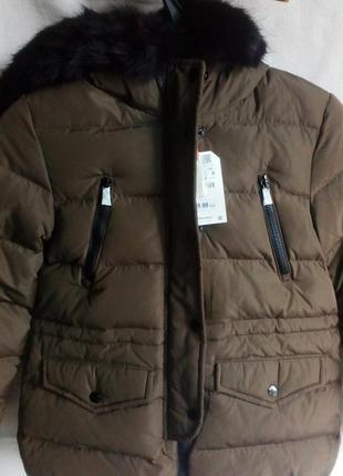 Куртка zara зима пух 152рост