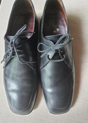 Качественные английские туфли полностью натуральная кожа 41 р.
