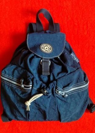 Сумка рюкзак kipling темно-синего цвета оригинал