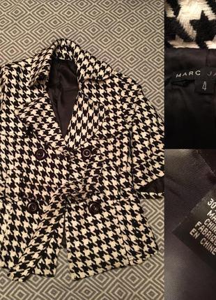 Короткое пальто, полупальто marc jacobs, 36/s, гусиная лапка