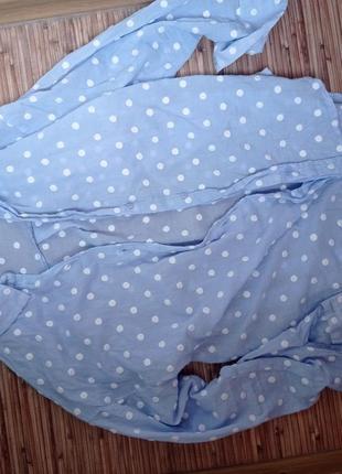 Рубашка горошек хлопок4 фото