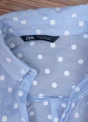 Рубашка горошек хлопок3 фото