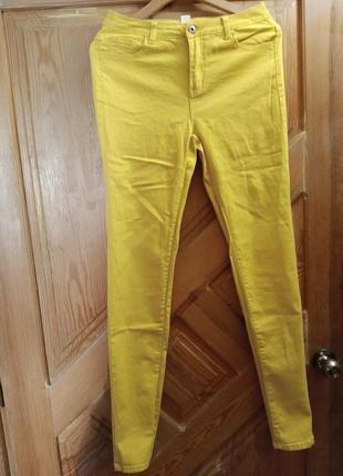 Жёлтые джинсы на высокий рост
