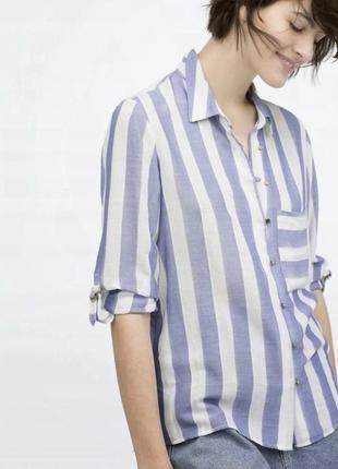 Рубашка в полоску, рубашка zara