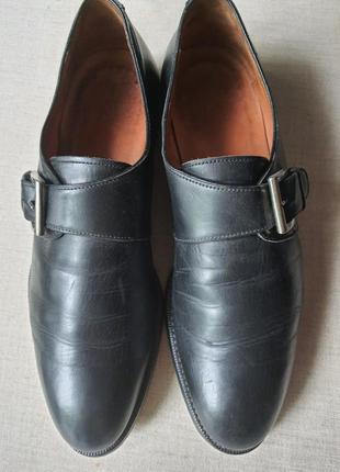 Италия.туфли монки vero cuoio полностью натуральная кожа 41 р.