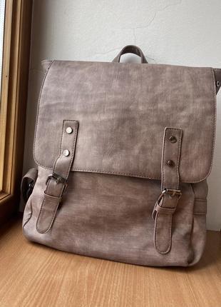 Вместительный рюкзак пыльно-розового цвета