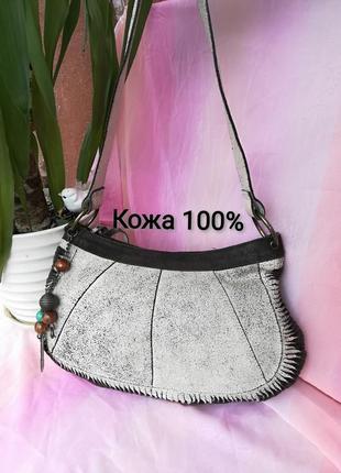Замшевая маленькая сумка натуральная сумочка