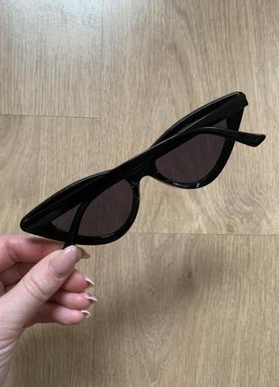 Стильные узкие солнцезащитные очки лисички в стиле vogue4 фото