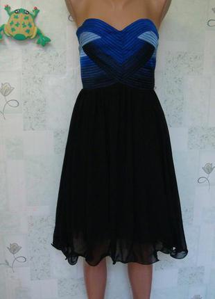 Оригинальное красивое платье с пышной юбкой/ переплеты