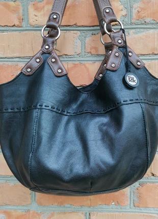 Шикарная большая кожаная сумка the sak