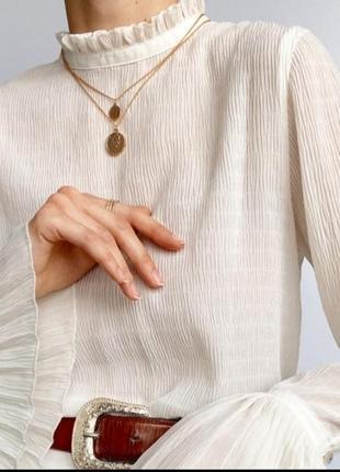 Белая блуза! размер l