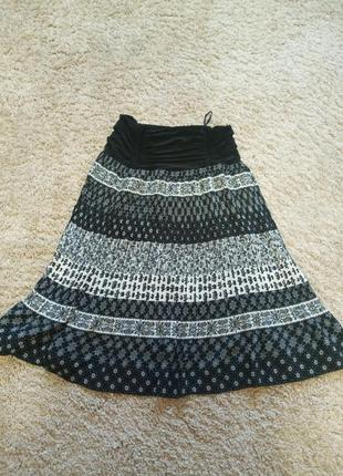 Легкая юбка,в мелкое плисе
