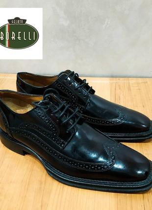 """Редкие дорогие классные туфли дерби """" borelli """". италия"""