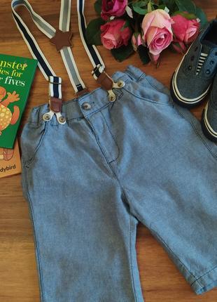 Стильные хлопковые шорты на парнишку 5-6 лет.