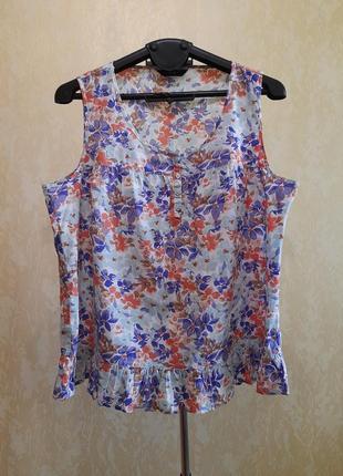 Лёгкая хлопковая блузочка 22 размер