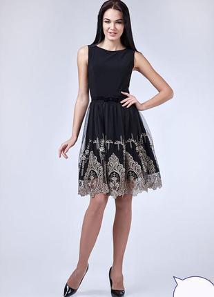 Платье кружево+золото