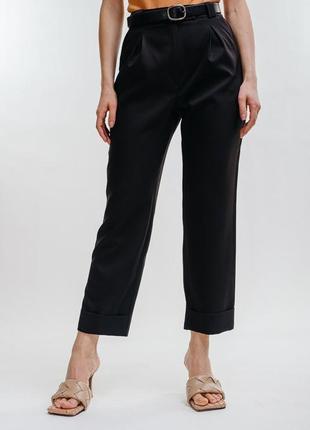 Укороченные брюки штаны свободного кроя с высокой талией